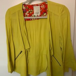 Anthropologie Elevenses blazer jacket shirt, xs